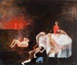 DUCLOS Hélène -  Les curiosités,1-2010-huile sur toile-46x55cm
