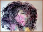HAMDI Aicha -  mixed media on paper - 72X100cm - 2013