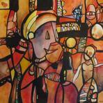 NEGLOT TOLGEN J.Paul - janvier- série encres aquarellées-47x47cm