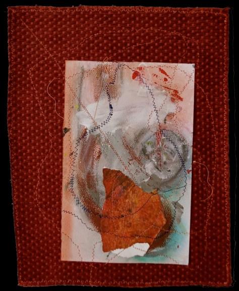 Sitan Adele K     Choré-graphie 5 Papier, Aquarelle, Acrylique, fil, velours 26x34cm 80gr 250€ Sitan Adèle K 2014